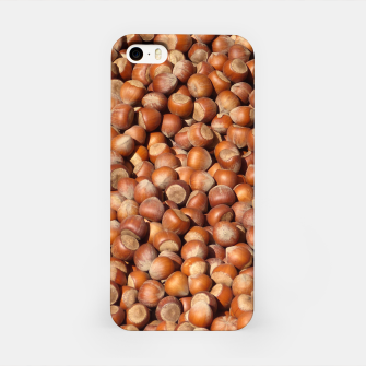 Thumbnail image of Brown Hazelnuts Pattern iPhone Case, Live Heroes