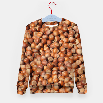 Thumbnail image of Brown Hazelnuts Pattern Kid's Sweater, Live Heroes