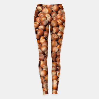Thumbnail image of Brown Hazelnuts Pattern Leggings, Live Heroes