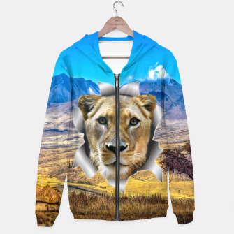 Thumbnail image of Lioness from Africa Hoodie, Live Heroes