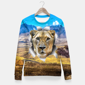 Thumbnail image of Lioness from Africa Fitted Waist Sweater, Live Heroes