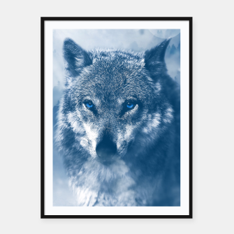 Miniature de image de Wolf and Snow Framed poster, Live Heroes