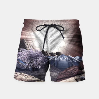 Thumbnail image of CREATURE OF THE UNIVERSE Swim Shorts, Live Heroes
