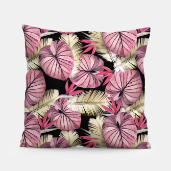 Miniaturka Tropical print with exotic leaves plants Pillow, Live Heroes
