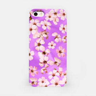 Miniaturka Small Flowers on purple wall iPhone Case, Live Heroes