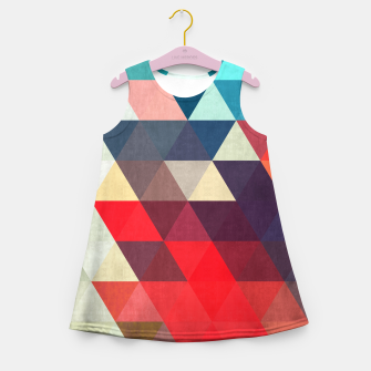 Thumbnail image of Modern abstract painting Girl's Summer Dress, Live Heroes