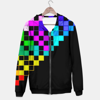 Thumbnail image of square art Hoodie, Live Heroes