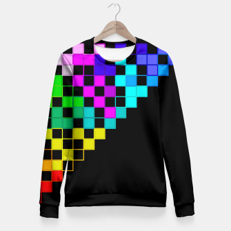 Thumbnail image of square art Fitted Waist Sweater, Live Heroes