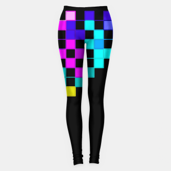 Thumbnail image of square art Leggings, Live Heroes