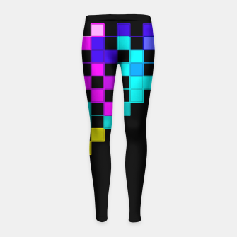 Thumbnail image of square art Girl's Leggings, Live Heroes