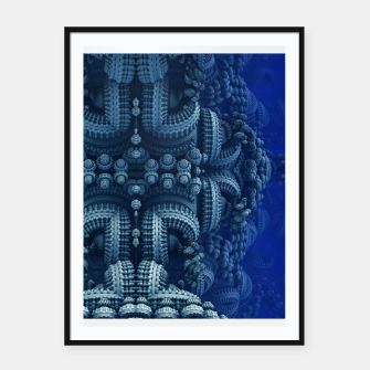 blue rings Framed poster thumbnail image