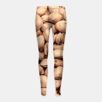 Thumbnail image of Pistachio Nut Pattern Girl's Leggings, Live Heroes