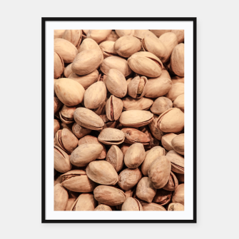 Thumbnail image of Pistachio Nut Pattern Framed poster, Live Heroes
