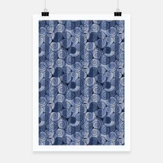 Miniaturka Abstract swirls print Poster, Live Heroes