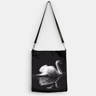 Thumbnail image of That Beauty: Black and White Swan Photography Handbag, Live Heroes