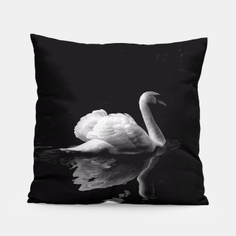 Thumbnail image of That Beauty: Black and White Swan Photography Pillow, Live Heroes