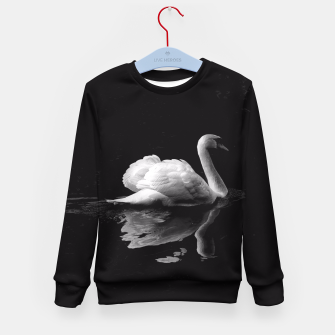 Thumbnail image of That Beauty: Black and White Swan Photography Kid's Sweater, Live Heroes