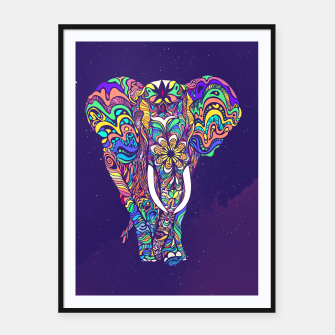 Thumbnail image of Not a circus elephant Framed poster, Live Heroes