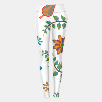 Miniatur Retro flowers and leafs  Leggings, Live Heroes