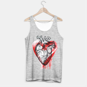 Miniatur Human Heart Tank Top regular, Live Heroes