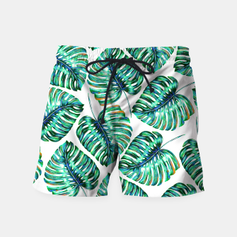 Thumbnail image of Pattern of tropical leaves Swim Shorts, Live Heroes