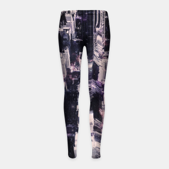 Thumbnail image of Space City Girl's Leggings, Live Heroes