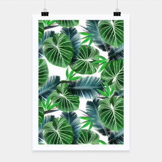 Miniaturka Tropical print with exotic leaves plants Poster, Live Heroes