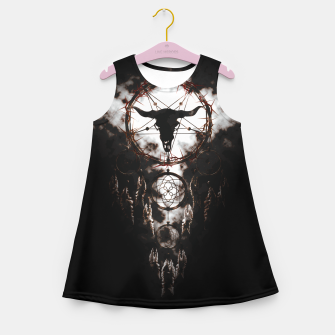 Dreamcatcher - Pentagram Girl's Summer Dress Bild der Miniatur