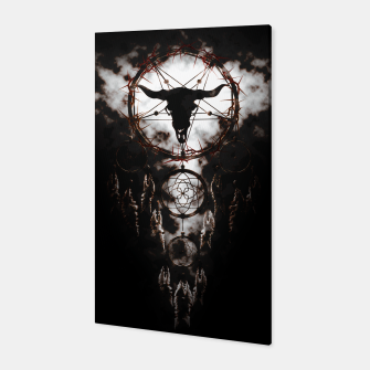 Dreamcatcher - Pentagram Canvas Bild der Miniatur