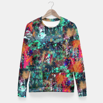 Thumbnail image of Graffiti and Splatter  Fitted Waist Sweater, Live Heroes