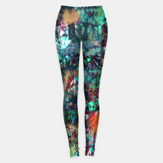 Thumbnail image of Graffiti and Splatter  Leggings, Live Heroes