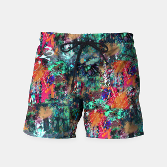 Thumbnail image of Graffiti and Splatter  Swim Shorts, Live Heroes