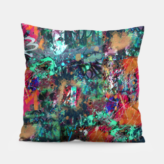Thumbnail image of Graffiti and Splatter  Pillow, Live Heroes