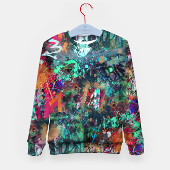 Thumbnail image of Graffiti and Splatter  Kid's Sweater, Live Heroes