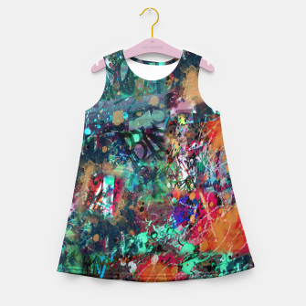 Thumbnail image of Graffiti and Splatter  Girl's Summer Dress, Live Heroes