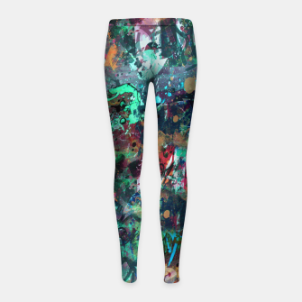 Thumbnail image of Graffiti and Splatter  Girl's Leggings, Live Heroes