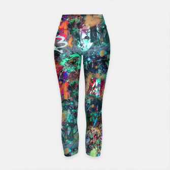 Thumbnail image of Graffiti and Splatter  Yoga Pants, Live Heroes