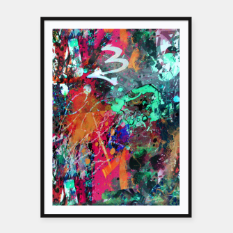 Thumbnail image of Graffiti and Splatter  Framed poster, Live Heroes