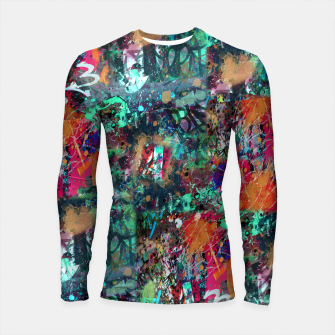 Thumbnail image of Graffiti and Splatter  Longsleeve Rashguard , Live Heroes
