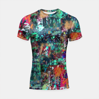Thumbnail image of Graffiti and Splatter  Shortsleeve Rashguard, Live Heroes