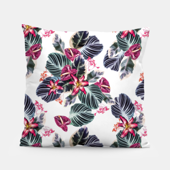 Miniaturka Tropical exotic flowers and leaves Pillow, Live Heroes