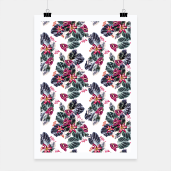 Miniaturka Tropical exotic flowers and leaves Poster, Live Heroes