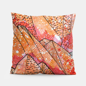 Thumbnail image of Paint Splatter Mountain Pillow, Live Heroes