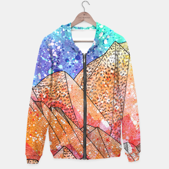Thumbnail image of Paint Splatter Mountain Hoodie, Live Heroes