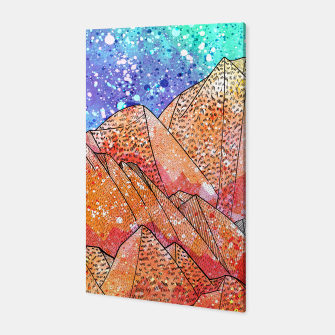 Thumbnail image of Paint Splatter Mountain Canvas, Live Heroes