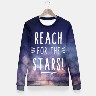 Miniaturka Reach for the Stars Taillierte Sweatshirt, Live Heroes