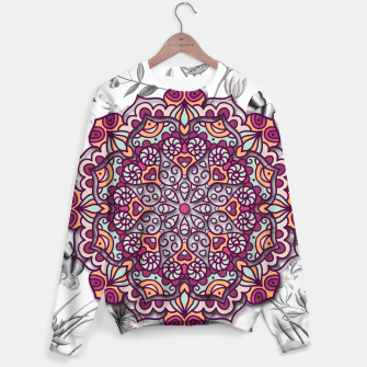 Thumbnail image of FLORAL MANDALA Sweater, Live Heroes