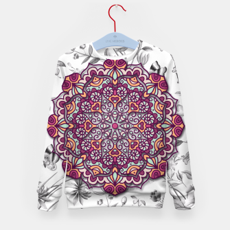 Thumbnail image of FLORAL MANDALA Kid's Sweater, Live Heroes