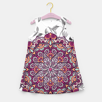 Thumbnail image of FLORAL MANDALA Girl's Summer Dress, Live Heroes