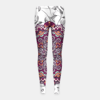 Thumbnail image of FLORAL MANDALA Girl's Leggings, Live Heroes
